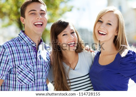 Three young friends