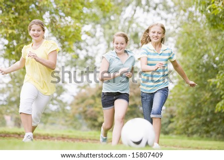 playing football clipart. Only girls play football,