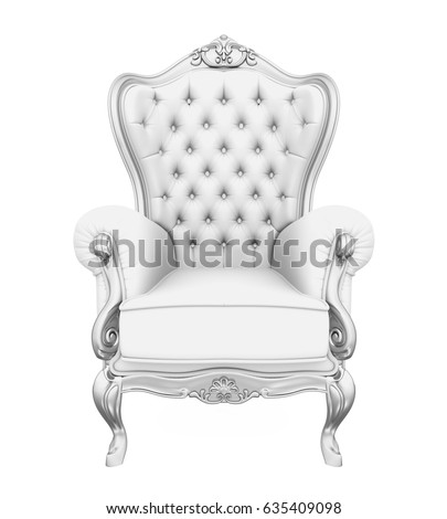 Throne Chair Isolated. 3D rendering