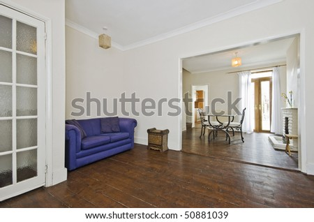 through living room in a period house with comfy furniture