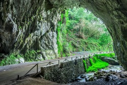 Through this cave is the only access to the village of Cuevas del Agua, Asturias
