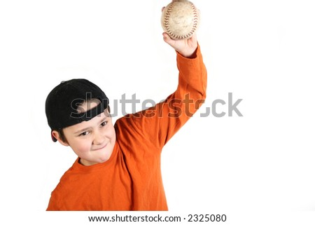 Throwing a baseball