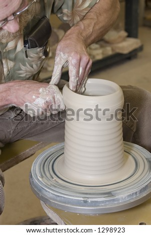 Throwing pottery 14