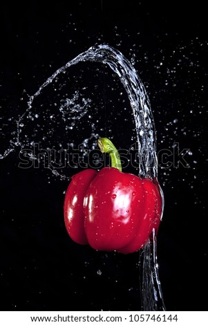 Thrown water and a pepper.