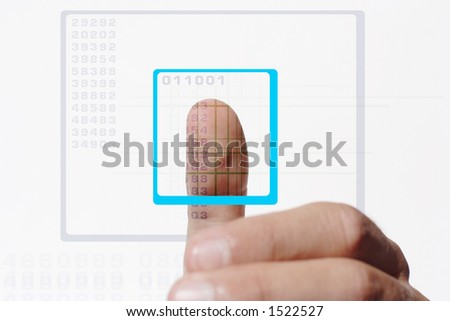 thumb scan for granting access