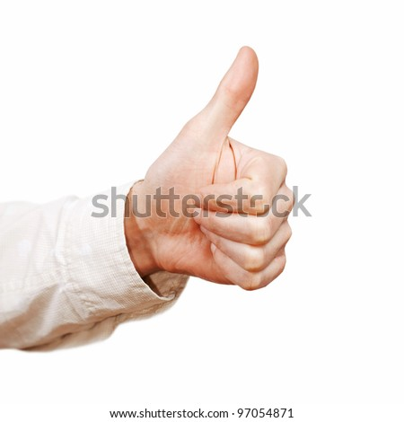 Thumb up isolated on white background