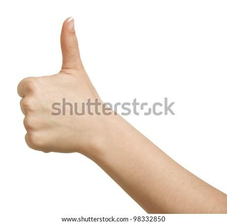 Thumb up isolated on white background