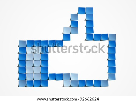 stock photo thumb up post it art 92662624 Post a complete set as thumbnails, hosted on a reliable and reputable ...