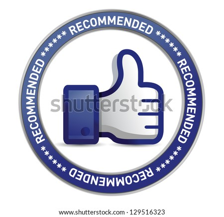 thumb up seal illustration design over a white background