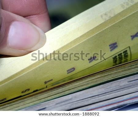 Thumbing Through a Phone Book