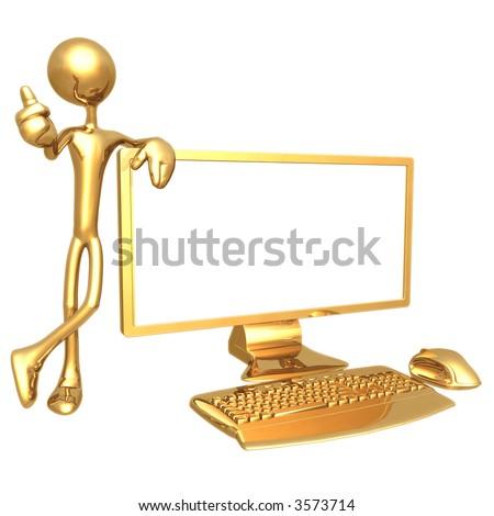 Thumbs Up Screen Presenter