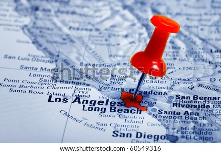 Thumbtack in a  Map with a Selective Focus