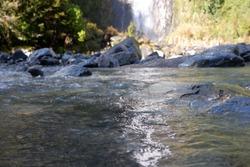 Thunder Creek Falls flowing river
