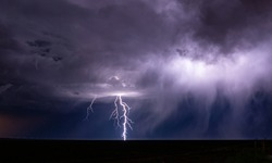 Thunder in Trelew, Chubut, Argentina