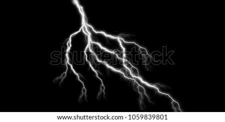 thunder light effect stock image
