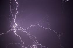 Thunder lightning storm