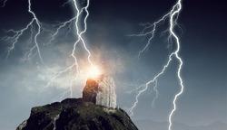 Thunder strike from sky