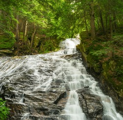 Thundering Falls.  A waterfall in Vermont.
