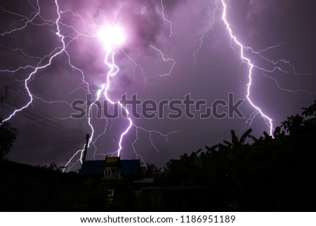 Thunderstorm at home