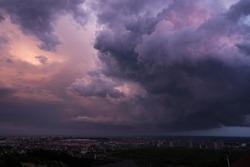 Thunderstorm in Sochi. Thunderstorm in Olimpic park.