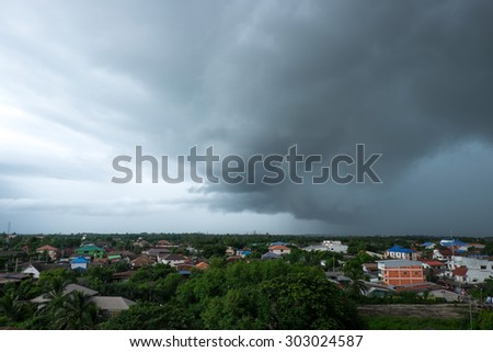 Thunderstorm in the Village