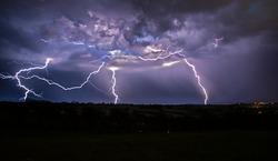 Thunderstorm over Devon.