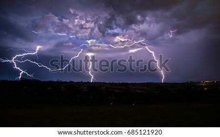 Thunderstorm over Devon.