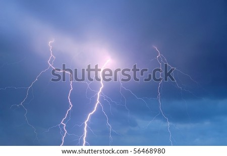 Thunderstorm Sky with Strong Lightning