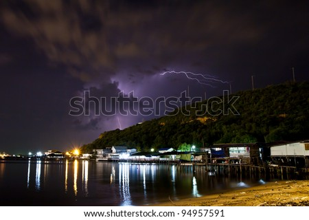 Thunderstorms in the eastern coast of Thailand.