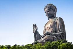 TIan Tan buddha at the Po Lin monastery in Ngong Ping, Lantau island, Hong Kong, China