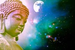Tian Tan Buddha from in Lantau Island, Hong Kong.design with copy space add text