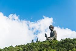 Tian tan buddha of po lin monastery in lantau island hongkong china