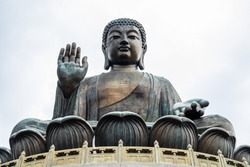 Tian Tan Buddha or Big Buddha is a large bronze statue of Buddha Shakyamuni, completed in 1993, and located at Ngong Ping, Lantau Island, in Hong Kong.