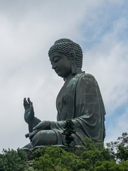 Tiantan big Buddha, the biggest  copper Buddha, in Hongkong, China