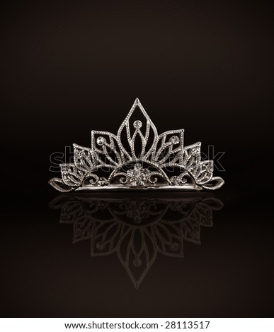 wedding tiara black background