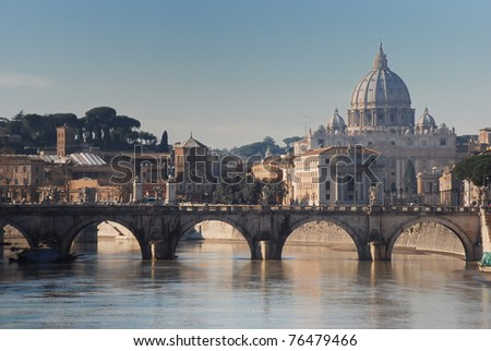 Tiber and St Peter Basilica
