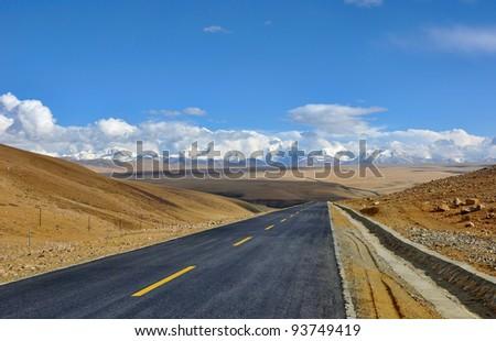 Tibet scenery, road