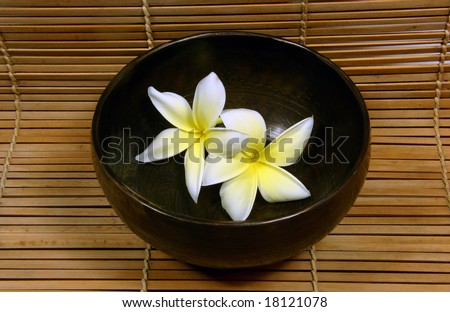 Tibetan bowl with frangipani