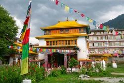 Tibetan monastery in Manali Town, Himachal Pradesh, India
