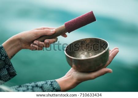 Tibetan singing bowl #710633434
