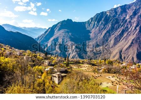 Tibetan village in Sichuan of  China #1390703120