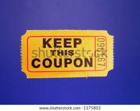 Ticket - stock photo