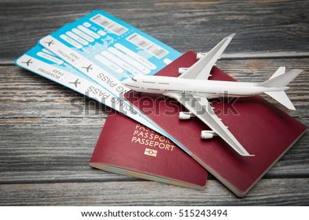 ticket flight air plane travel business traveller trip passport traveler airplane passenger journey air ticket booking aircraft boarding concept - stock image