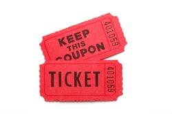 Ticket/ ticket on white background