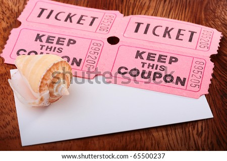 Tickets with the coupons, used at carrying out of small lotteries at sports and other shows of actions.