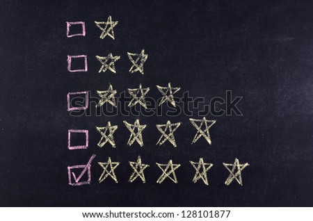 ticking 5 stars rating on blackboard