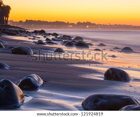 Tidal shore long exposure at Surfer's Point.