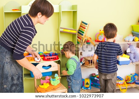 Tidy up own toys
