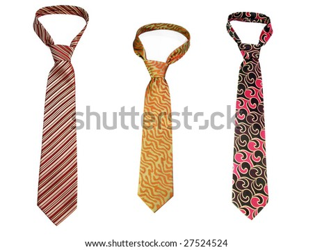 Tie - a personal accessory of each businessman, isolated on white