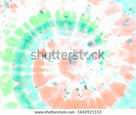 Tie Dye Circle. Teal Funky Spiral. Psychedelic Swirl. Green Circular Pattern. Grunge Wallpaper in 1960s Style. Tye Dye Circle. Hippie Spiral. Watercolor Print. White Bohemian Pattern. Tie Die Circle.